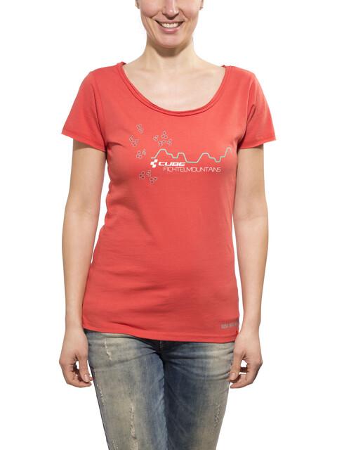 Cube Fichtelmountains T-Shirt Damen red